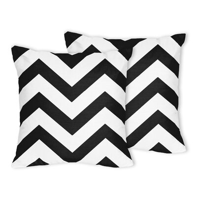 Chevron Throw Pillow Color: Black