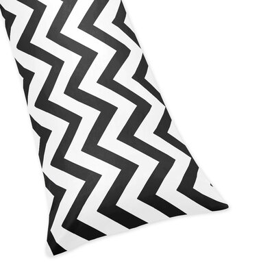Chevron Body Pillow Case Color: Black