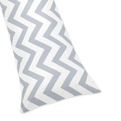 Chevron Body Pillow Case Color: Gray