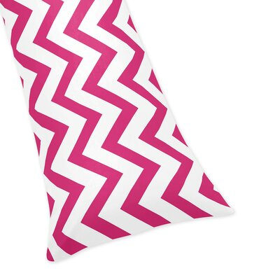 Chevron Body Pillow Case Color: Hot Pink