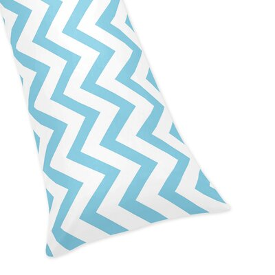 Chevron Body Pillow Case Color: Turquoise