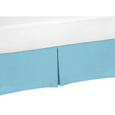 Chevron Bed Skirt Size: Twin, Color: Turquoise