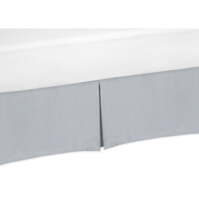 Chevron Bed Skirt Size: King, Color: Gray