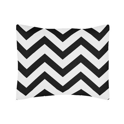 Chevron Standard Pillow Sham Color: Black