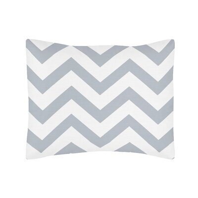 Chevron Standard Pillow Sham Color: Gray