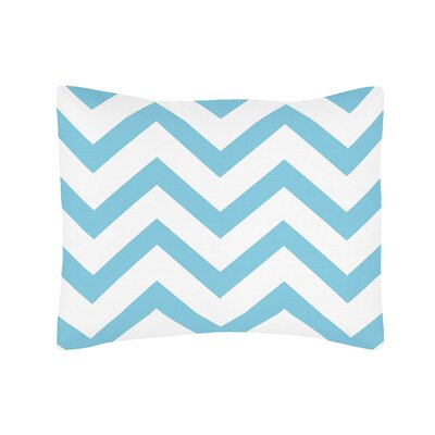 Chevron Standard Pillow Sham Color: Turquoise
