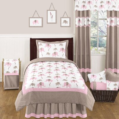 Elephant Pink Comforter Set Size: Twin