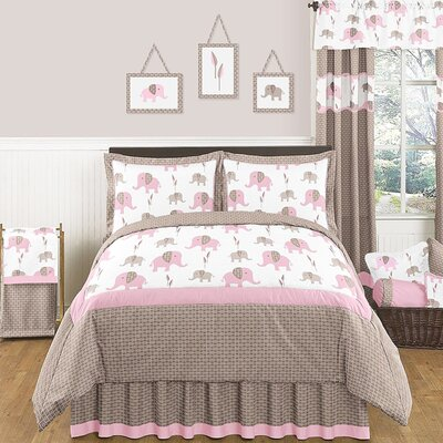 Elephant Pink Comforter Set Size: Full / Queen
