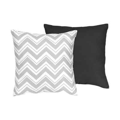 Zig Zag Cotton Throw Pillow Color: Grey / Black