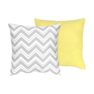Zig Zag Cotton Throw Pillow Color: Grey / Yellow