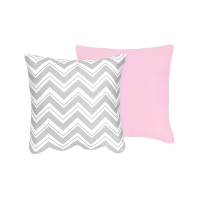 Zig Zag Cotton Throw Pillow Color: Grey / Pink