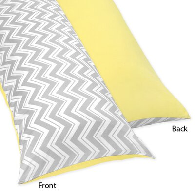Zig Zag Body Pillow Case Color: Grey and Yellow