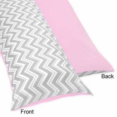 Zig Zag Body Pillow Case Color: Grey and Pink