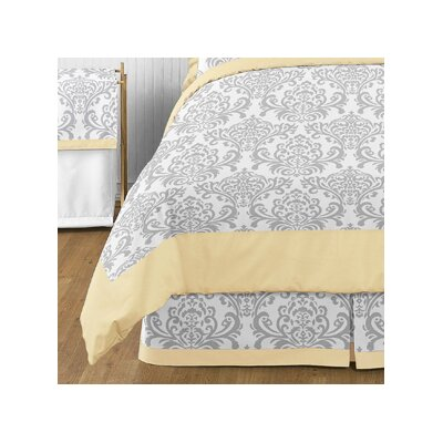 Avery Queen Bed Skirt Color: Yellow and Gray