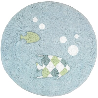 Go Fish Floor Area Rug Rug Size: 26 x 3