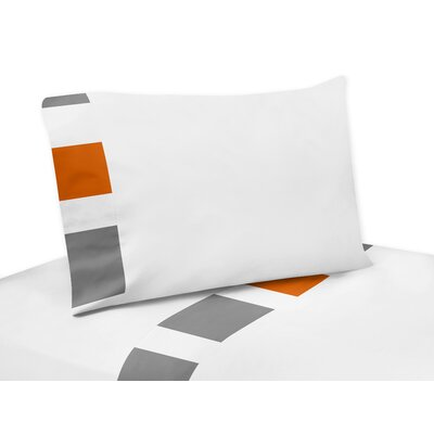 Stripe Sheet Set Color: Gray/Orange