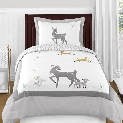 Forest Deer Comforter Set Size: Twin