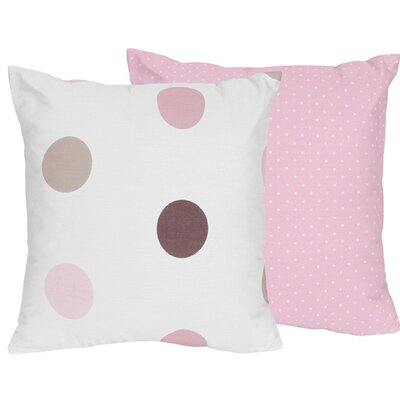 Mod Dots Cotton Throw Pillow