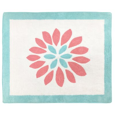 Emma Hand-Tufted Blue/Pink/White Area Rug