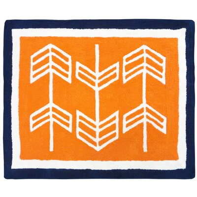 Arrow Hand-Tufted Orange/Blue/White Area Rug