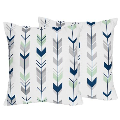 Mod Arrow Throw Pillow Color: Gray/Navy/Mint