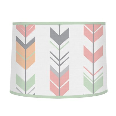 Mod Arrow 10 Microfiber Drum Lamp Shade Color: Gray/Coral/Mint