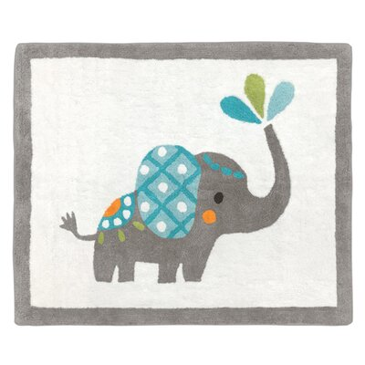 Mod Elephant Hand-Tufted Gray/White Area Rug