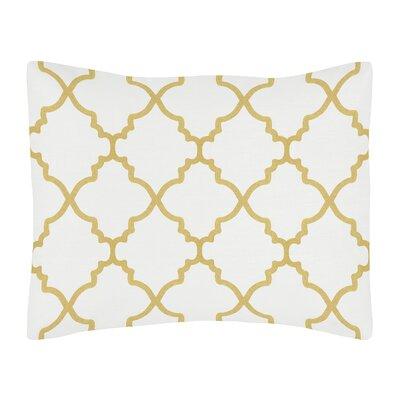 Trellis Sham Color: White/Gold