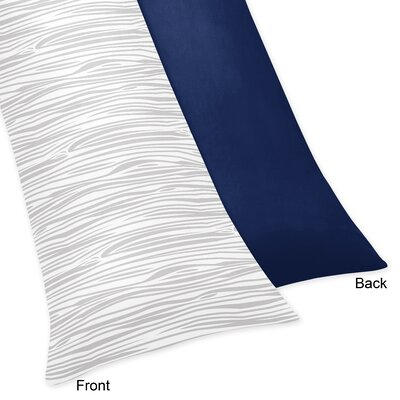 Woodsy Body Pillow Case Color: Navy Blue/Gray/White
