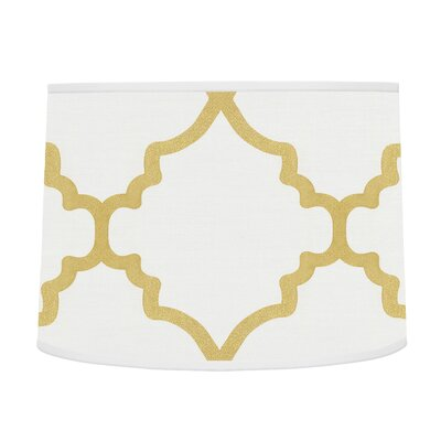 Trellis 10 Brushed Microfiber Drum Lamp Shade