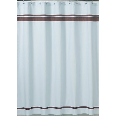 Sweet JoJo Designs Blue and Brown Hotel Shower Curtain - ShowerCurtain-Hotel-BU-CH