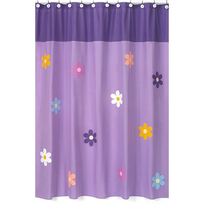 Danielles Daisies Cotton Shower Curtain
