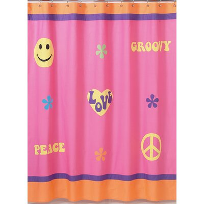 Groovy Cotton Shower Curtain