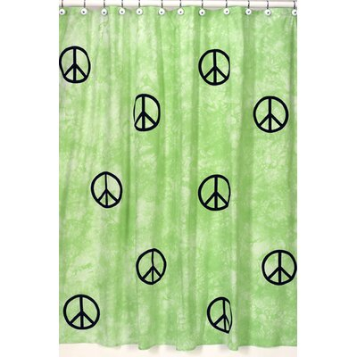 Sweet Jojo Designs Peace Green Shower Curtain | Wayfair