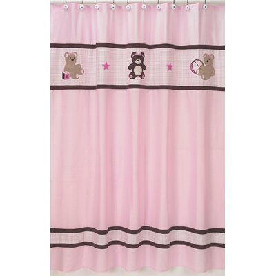 Teddy Bear Shower Curtain Color: Pink