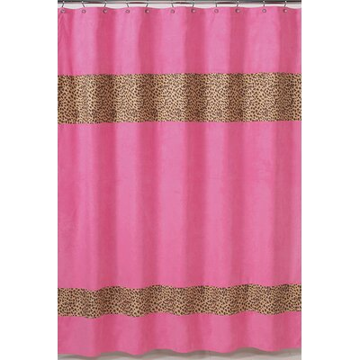 Cheetah Pink Microsuede Shower Curtain