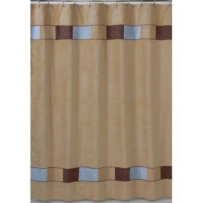 Soho Shower Curtain Color: Blue and Brown