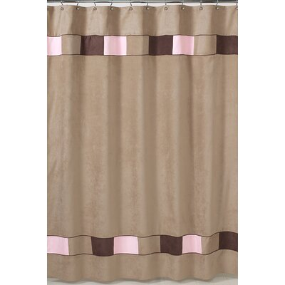 Soho Shower Curtain Color: Pink and Brown