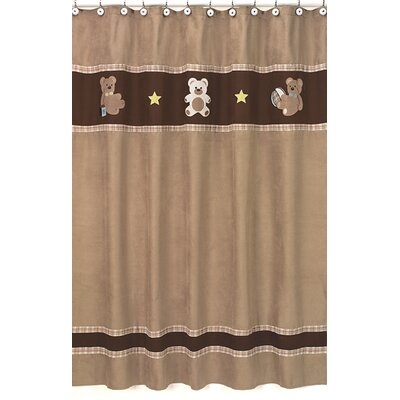 Teddy Bear Shower Curtain Color: Chocolate