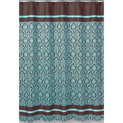 Buy Low Price Sweet Jojo Designs Turquoise And Chocolate Bella Shower Curtain Shower Curtain Mall