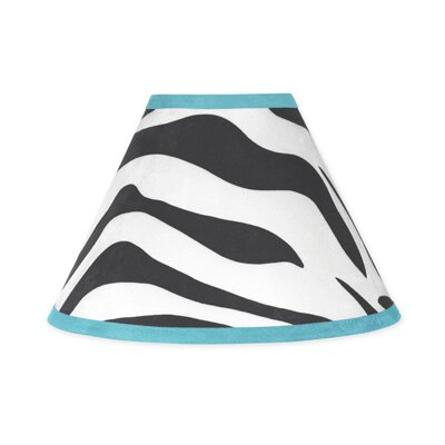 Zebra 10 Cotton Empire Lamp Shade Color: Blue