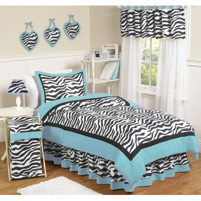 Camping Bedding  on Turquoise Funky Zebra 4 Piece Twin Bedding Set   Zebra Bu Twin 4