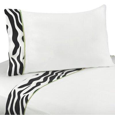 Zebra Sheet Set Size: Twin, Color: Lime