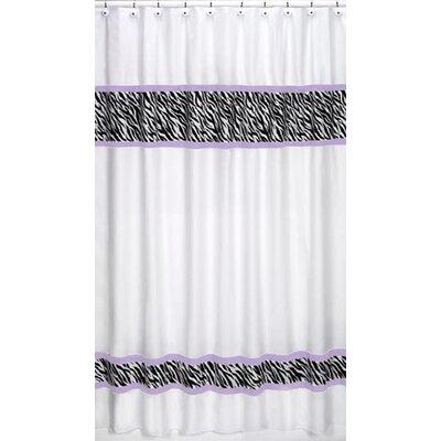 Funky Zebra Cotton Shower Curtain Color: Purple