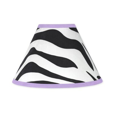 Zebra 10 Cotton Empire Lamp Shade Color: Purple