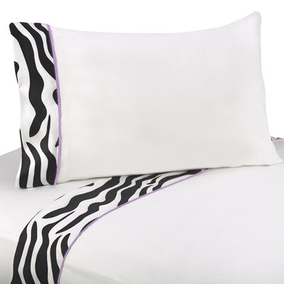 Zebra Sheet Set Size: Twin, Color: Purple