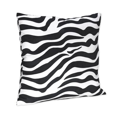 Zebra Microsuede Throw Pillow Color: Turquoise