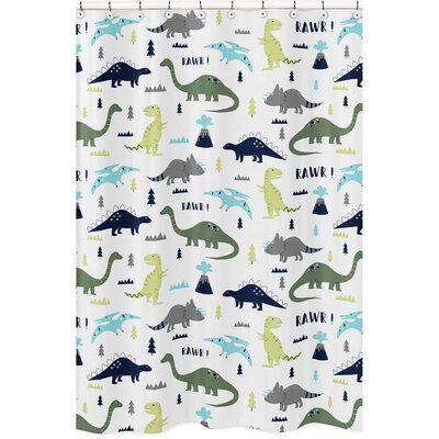 Mod Dinosaur Shower Curtain
