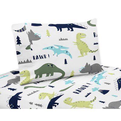 Mod Dinosaur 4 Piece Sheet Set