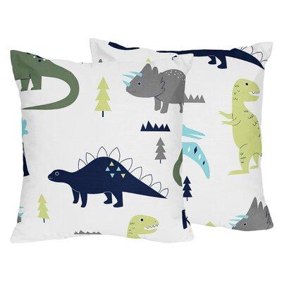 Mod Dinosaur Throw Pillow